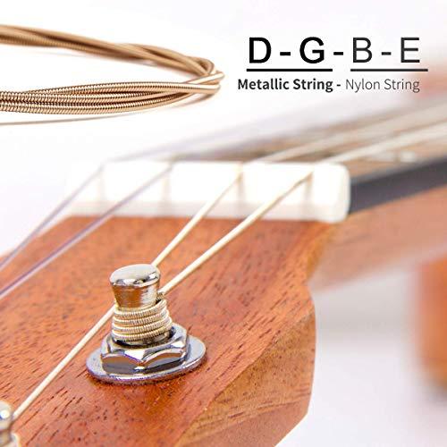 Kmise Baritone Ukulele,Ukelele 30 inch Professional Mahogany Uke with DGBE String Strap Ukalalee Picks