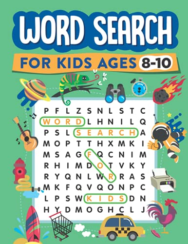 Word Search for Kids Ages 8-10: 100 Word Search Puzzles