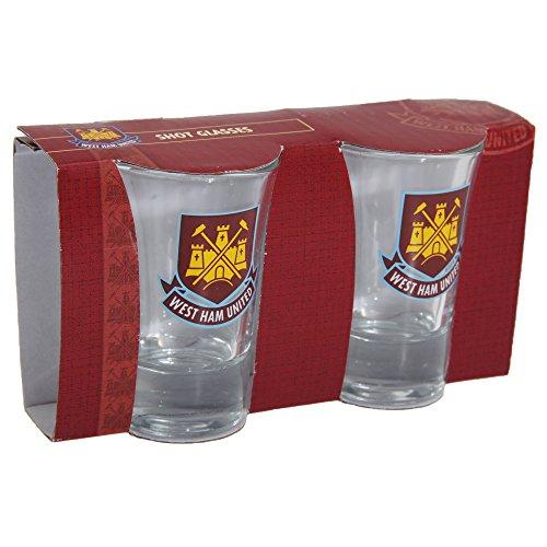 West Ham United F.C. 2 pk Shot Glass Set Officiële Merchandise