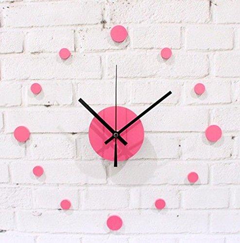 Wall Clock WERLM Persoonlijkheid Design Home Decor Art Klok Kristal Acryl DIY Pasta Wandklok Wandklok Apart Art en wijze creatieve persoonlijkheid woonkamer Silent Clock, A