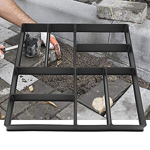 PopHMN Molde del Fabricante del Camino del Piso, 40 * 40CM Cuadrado 8 Rejillas Molde de hormigón Reutilizable Jardín Patio Camino de Entrada Plantilla Walk Maker
