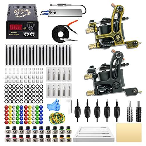 ITATOO Complete Tattoo Kit for Beginners Tattoo Power Supply Kit...