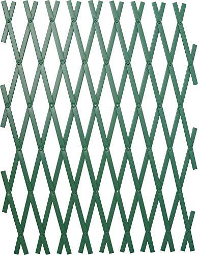Triuso espalier mural Vert 60 x 180 cm plastique résistant aux intempéries treillis Tuteur plantes grimpantes mural aide d'escalade