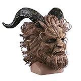 CYCG Halloween Horror Masken Grusel Maske,Film Beauty and The Beast Prinz Bestie Maske für...