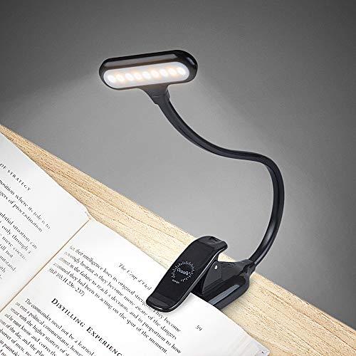 OCOOPA Klemmleuchte Leselampe, LED Buchlampe mit 9 LEDs, Tragbare und Dimmbares Leselicht, 360° Flexibel Schreibtischlampe mit Clip und USB-Kabel [Energieklasse A+++]
