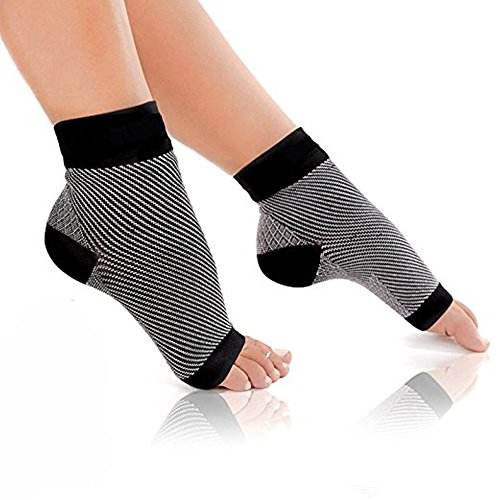 PEDIMEND™ Plantar Fasciitis Socks with Arch Support (4PAIR - 8PCS)   Great for Aching Feet & Heel Pain Relief   Provide Relieve from Achilles Tendonitis   Unisex   Foot Care (Large: UK 8.5-13.5)