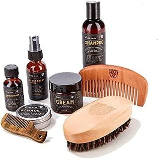 The Beard Club | Beard Care Grooming Kit | Sandalwood Beard Oil, Beard Cream, Riptide Beard Spray, Sandalwood Beard Balm, Beard Shampoo, Boar Bristle Beard Brush, Beard Comb & Mustache Comb
