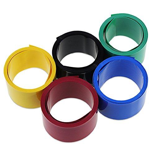 KEESIN 29.5mm Flat PVC Calor Tubo retractil Envoltura de la batería 2m para 18650 Batería