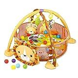 Baby-Spieldecke, Kinder-Spieldecke -3in1 Erlebnisdecke Mit 4 Hängenden Spielzeugen&30 Bällen Bällebad, Krabbeldecke, Spielbogen, Spieldecke, Lernmatte Geschenk Für 0-24 Monate Baby Jungen Und Mädchen