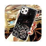 絶妙 For iphone 11Pro MAXグリッタースターフォイルゴールド3Dダイヤモンドリングホルダーボール+ランヤードソフトカバー For iphone MAX XS XR 8plus電話ケース-only phone case2- For iphone XS MAX
