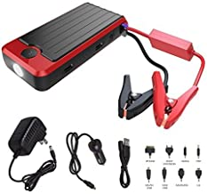 Powerall Supreme 600A Portable 16,000 mAh Lithium V4 V6 V8 Car Jump Starter with Power Bank, LED Flashlight and Carrying Case (PBJS16000RS)