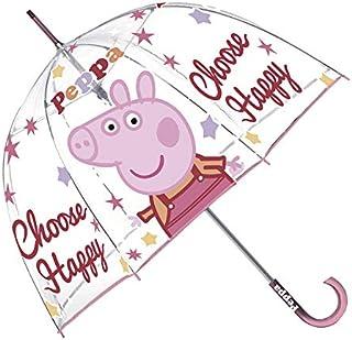 Paraguas Peppa Pig Burbuja Transparente (Los Colores se sirven de Forma aleatoria