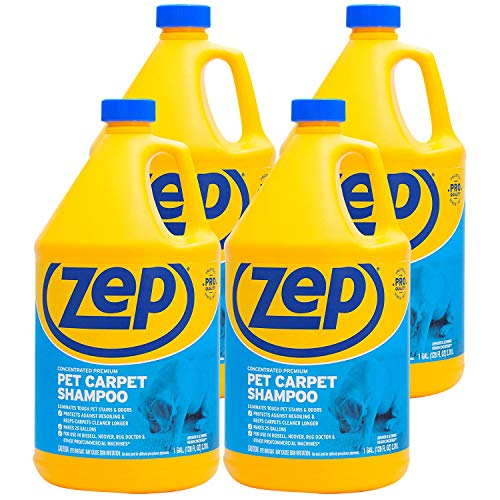 Zep Premium Pet Carpet Shampoo 128 ounce ZUPPC128 (Case of 4) Concentrated Pro Formula eliminates tough pet stains and odors