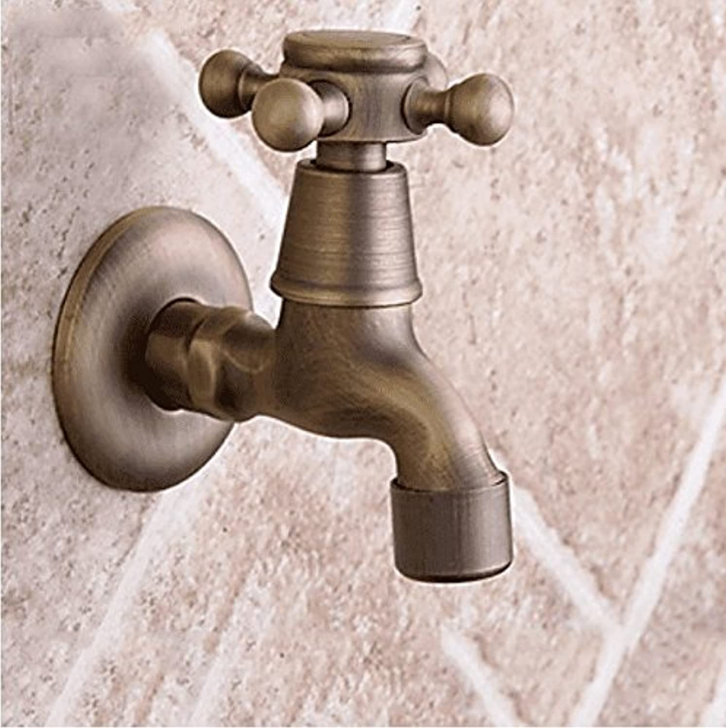 Lpophy Bathroom Sink Mixer Taps Faucet Bath Waterfall Cold and Hot Water Tap for Washroom Bathroom and Kitchen Antique Wall-Mounted Ceramic Valve Drawing