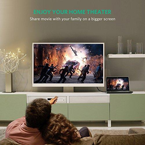 UGREEN Displayport auf HDMI Vergoldet DisplayPort DP zu HDMI Kabel HDTV Kabel UHD 4K für Laptop/PC mit HDTVs, Beamern, HTC Vive, Displays und Grafikkarten (1m)