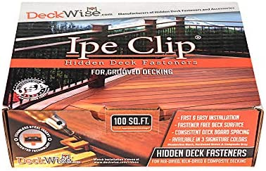 DeckWise Brown Ipe Clip Extreme S Hidden Deck Fasteners 5 32 Gap Stainless Steel Black 8x2 Trim product image