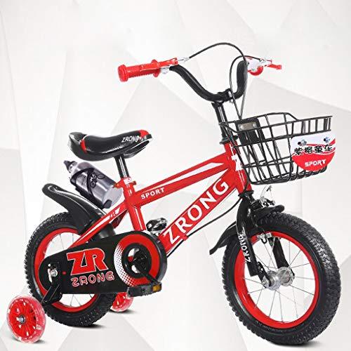ZWJ-JJ Las bicicletas de los niños de 16 pulgadas bicicletas for niños 4-7 años de edad bebé Bicicletas alto contenido de carbono de acero del carro de bebé, rojo / / verde azul bicicleta for niños (C