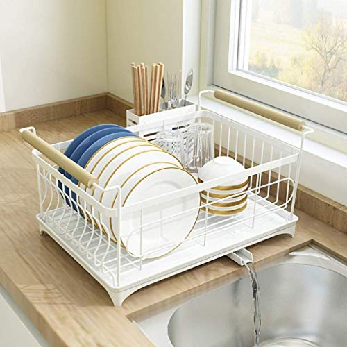 Gymqian Cutlery Holder Kitchen Shees Stainless Steel Paint Sink Drain Rack for Dishes, Chopsticks, Spoons, Sink Storage Storage Shelf for Dishes Drain Rack Rack in Kitchen Strong and Sturdy /