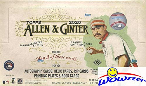 2020 Topps Allen & Ginter MLB Baseball MASSIVE Factory Sealed HOBBY Box with 192 Cards & (3) HITS! Look for Autos of Mike Trout, Luis Roberts, Joe Burrow, Alex Morgan, Fernando Tatis & More! WOWZZER!