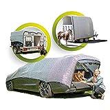GREENSHADE® ALUNETZ (Gr_L) 4x3m - 12m² | inkl. Magnet System | 85% höchste Premium Reflektion | Schattennetz Auto | Aluminet Hitzeschutz reduziert Wärmestauung | Sonnenschutz Auto |...