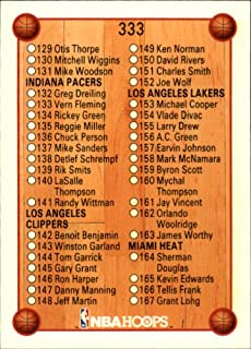 1990 Hoops Basketball Card (1990-91) #333 Checklist