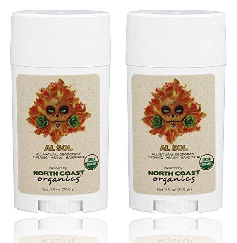 North Coast Organics - All Natural Organic Deodorant Al Sol - 2.5 oz. - 2 Pack