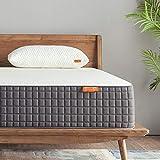 King Mattress, Sweetnight Breeze 12 Inch King Size Mattress Medium Firm, Ventilated Memory Foam Mattress for a Deep Sleep, Supportive & Pressure Relief,SN-M002-K,White Gray
