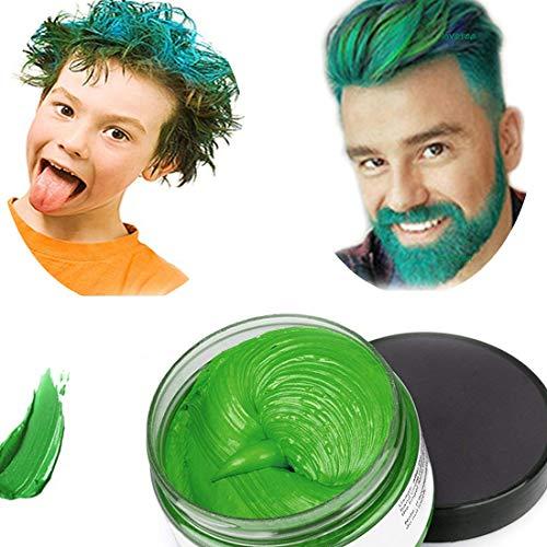 Haarfarbe Wachs, natürliche Matte Frisur für Party. Cosplay, Halloween (grün)