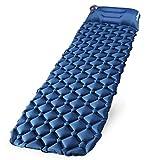 Tomight エアーマット キャンプマット エアーベッド 車中泊エアーマット アウトドア用 コンパクト テントマット 寝袋 超軽量型 耐水加工 枕付き一体化 二つ枚連結可能