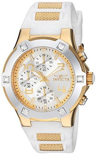 Invicta Women's BLU Quartz Watch with Silicone Strap, White, 22 (Model: 24192)