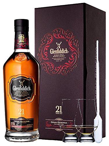 Glenfiddich 21 Jahre Gran Reserva 0,7 Liter + 2 Glencairn Gläser + Einwegpipette 1 Stück