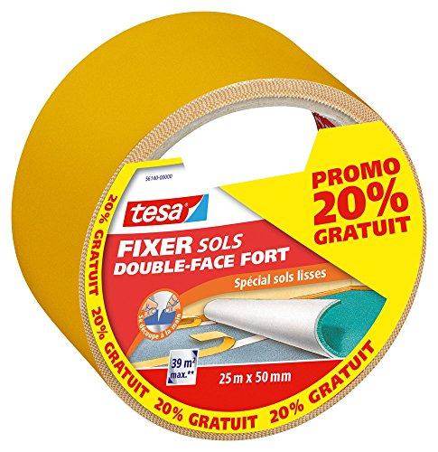 Tesa 561400000000 Double Face Fort 25mx50mm Dont 20% Gratuits, Orange