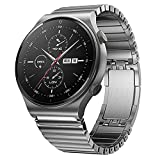 VeveXiao Pulsera compatible con Huawei Watch 3/Watch 3 Pro/GT 46mm/GT2 Pro/GT2 46mm, 22mm acero inoxidable de repuesto para Samsung Galaxy Watch 46mm/Galaxy Watch 3 45mm/Gear S3 banda metal (plata)