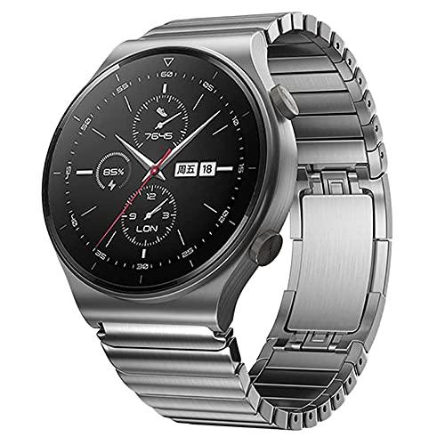 VeveXiao Correa compatible con Huawei Watch GT 46 mm/GT2 Pro 46 mm/GT2 46 mm/Porsche/ECG Series/Galaxy Watch 46 mm/Galaxy Watch 3 45 mm/Gear S3, 22 mm de malla de acero inoxidable de repuesto (plata)