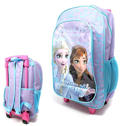 Children's Character Luggage Deluxe Wheeled Trolley Backpack Suitcase Cabin Bag School (Frozen II)
