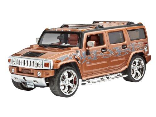 Revell Modellbausatz Auto 1:25 - Hummer® H2 im Maßstab 1:25, Level 3, originalgetreue Nachbildung mit vielen Details, , Model Set mit Basiszubehör, 67186