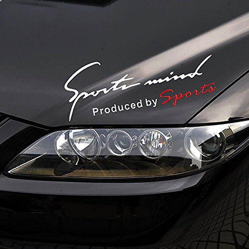 Racing Sports Auto Car Light Eyebrow Reflective Stickers Decor Car Front Decals White