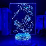 Lámpara de noche con luces LED 3D, manga Luca Albe Sea Monster Anime, Figura LED de noche, luces LED, lámpara 3D, linda decoración de habitación, regalo para amigos
