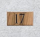 Free Brand Panneau en bois de ferme, décoration de porche, personnalisable, en chêne massif, plaque de numéro de maison