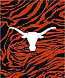 College Covers Texas Longhorns Super Soft Raschel Throw Blanket, 50' x 60'