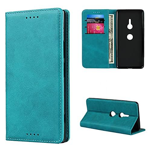 Copmob Hülle Sony Xperia XZ3,Flip Leder Brieftasche Handyhülle,[3 Steckplätze][Magnetverschluss][Ständerfunktion],Klapphülle Ledertasche Schutzhülle für Sony Xperia XZ3 - Himmelblau