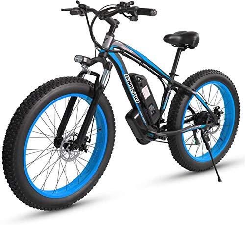 Bicicletas Eléctricas, Bicicletas eléctricas for adultos hombres de las mujeres, 4,0'  26 pulgadas Fat Tire bicicleta eléctrica de 48V / 18AH 1000W Motor Nieve bicicleta eléctrica con 21 de velocidad