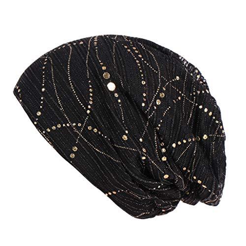 DQANIU 💗💗 Frauen Muslim Chemo Cap Frontal Lace Cross Mütze Hijab Turban Hut