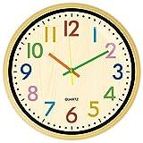 TOPPTIK Orologio da parete, orologio da parete personalizzato per bambini, orologio rotondo a batteria di facile lettura, utilizzato in camera da letto, soggiorno