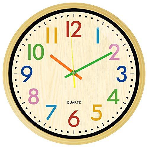 HOSTON Orologio da Parete Cucina 30cm Moderno Decorazioni casa Orologio Digitale Tranquillo Orologio da Parete utilizzato in Soggiorno, Camera, Ufficio (Sette Colori)