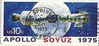 1975 Fancy Cancel US Postage Stamp 10 Cent Apollo Soyuz -Rock Springs,WY Cancel Scott #1569