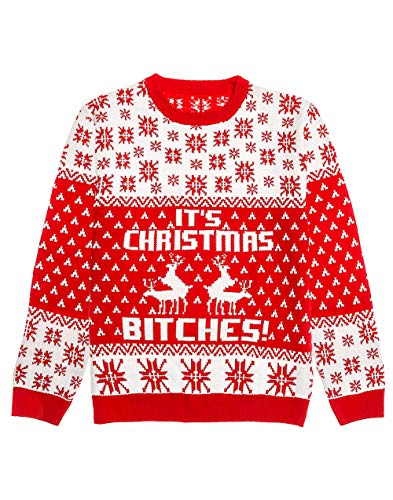 Ugly Christmas Sweater - It's Christmas Bitches Weihnachtspulli Sweater, Multicolor, L