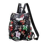BLACK MAMUT Mochila Diseño Floral de Mujer Para Viaje, Pequeños...