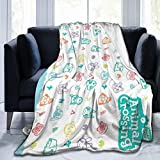 Animal Crossing Anti-Pilling Flannel Blanket Super Soft and Comfortable Luxury Bed Blanket with Microfiber 60'x50'