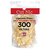 Cut-Nic 4 Hole Disposable Luxury Cigarette Filters (300 Filters)